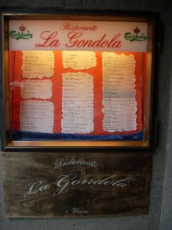 La Gondola is on the second floor overlooking the Weinmarket
