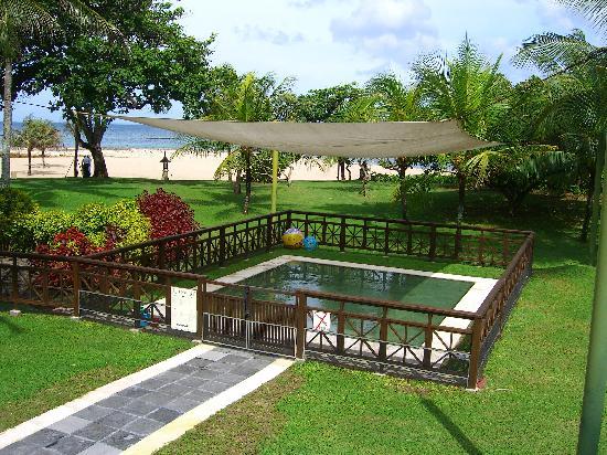 Club Med Bali: petite club pool with a shade
