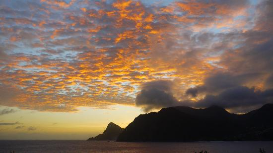 Saint Patrick Parish, Dominica: Sunset from Zandoli