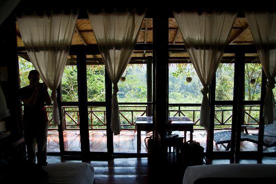 Lao Spirit Resort: View through the wall of windows