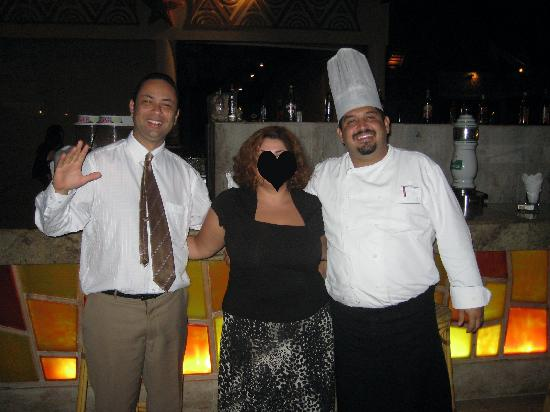 Majestic Colonial Punta Cana: Cheif cook and the helper.
