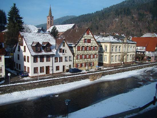Zur Alten Brucke : View taken from the hotel.