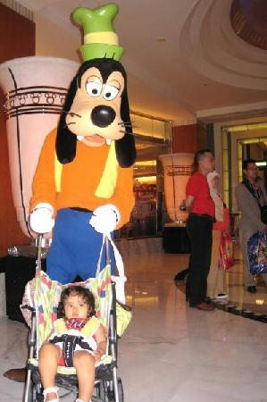 Disney's Hollywood Hotel: goofy roaming around after park closed