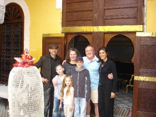 Riad Le Calife: Our Hosts (Alexandre - far left, Yasmine - far right)