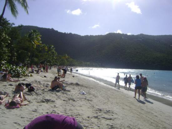 Magens Bay: At the end of the beach, where it was less busy.