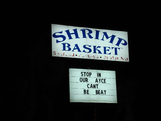 Shrimp Basket : Sign