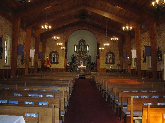 Las Cruces, NM: inside the church Old Mesilla