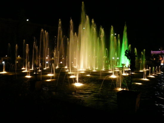 Mysore - Vrindavan Gardens, giochi d'acqua