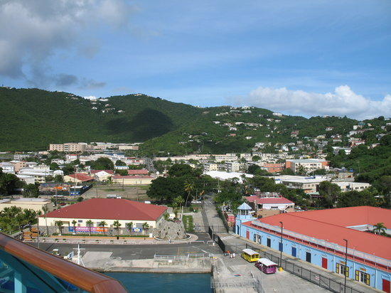 St. Thomas: looking into town from the cruise ship