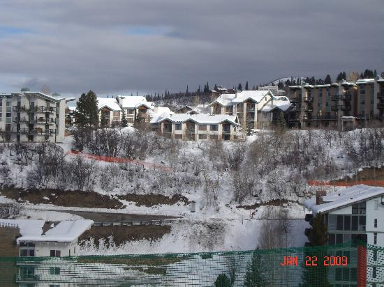 Storm Meadows Townhomes: 2nd building from left - view is from Christy Peak Express lift