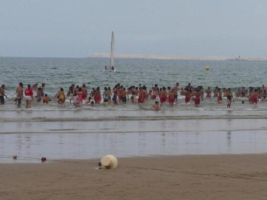 Agadir Beach when school is out