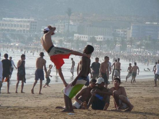 Agadir Beach: More of boys will be boys