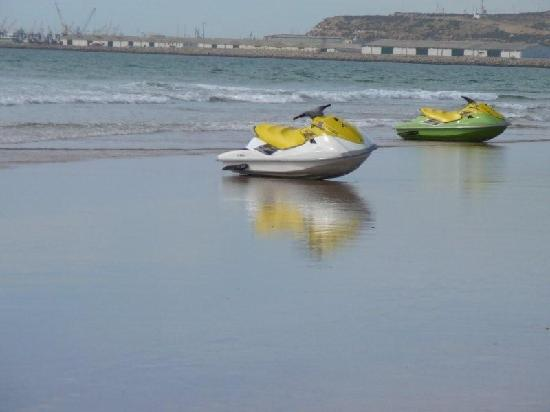 Agadir Beach: The Jet Ski waiting