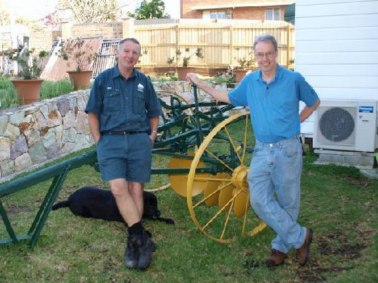 Lucerne on Fernberg: Brian and Skip in the side yard