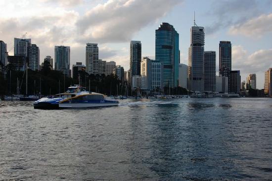 Lucerne on Fernberg: City Cat Ferry and Brisbane Skyline