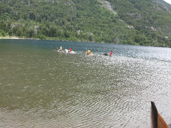 Estancia Peuma Hue : swimming with the horses in the lake