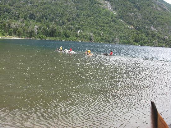 Estancia Peuma Hue: swimming with the horses in the lake