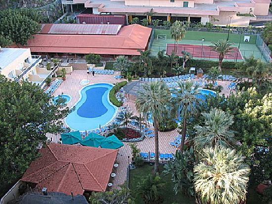 Bahia Principe San Felipe: View of the pools and gardens rom room