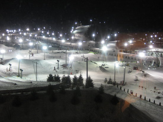 Macungie, Пенсильвания: Nightime view from our room