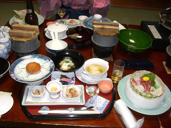 Oarai-machi, Japón: 夕食のお膳