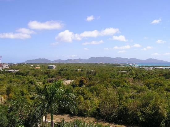 Royal Palms: The view across to St. Maarten from our breakfast table on the balcony