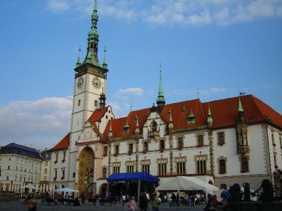 Poets Corner Hostel Olomouc: The square in Olomouc