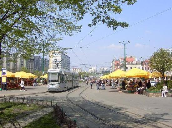 Katowice, Polen: Center city