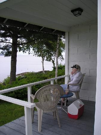 Beloin's on the Maine Coast: Mom on the deck