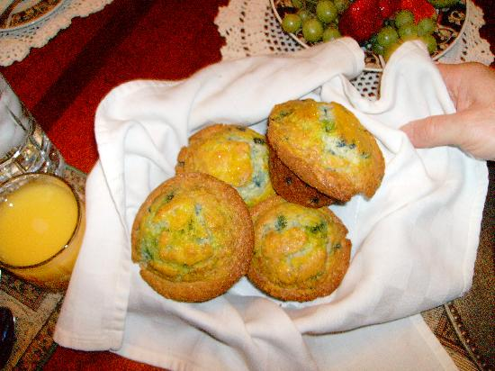 Anton-Walsh House: Made from scratch lemon/blueberry muffins