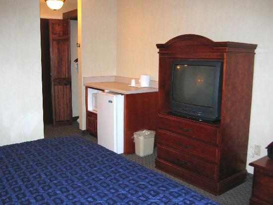 Comfort Inn & Suites Galleria: Rooom 202 TV, Fridge, Microwave