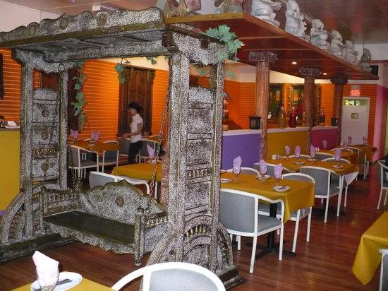 India Palace: Palace swing & one side of restaurant