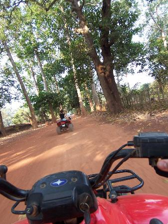 ‪‪Quad Adventure Cambodia Siem Reap‬: On the bike‬