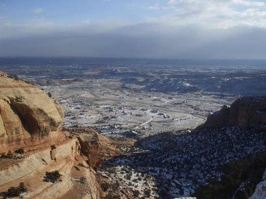Grand Mesa: View of Grand Junction