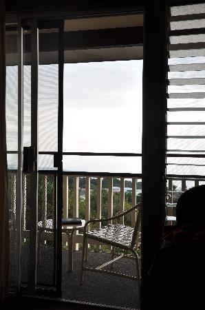 Manago Hotel: Looking out from inside of the room