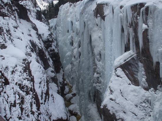 Ouray Ice Park: Ice falls