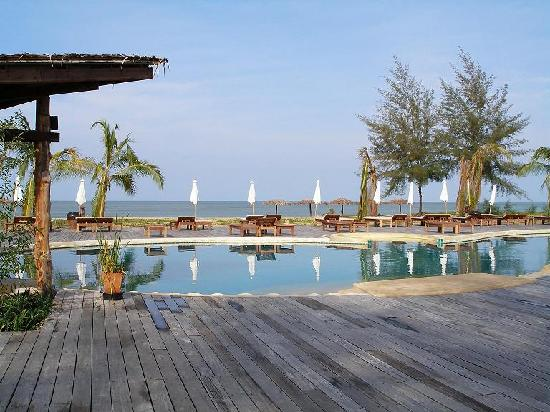 Tacola Resort and Spa: the pool and Andaman sea
