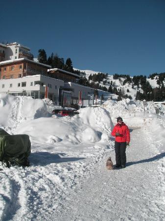 Sundance Grande Mountain Resort & Spa: hotel im hintergrund
