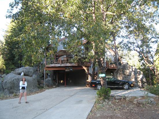 Yosemite Peregrine Lodging: riIn front of the Yosemite Peregne Bed and Breakfast