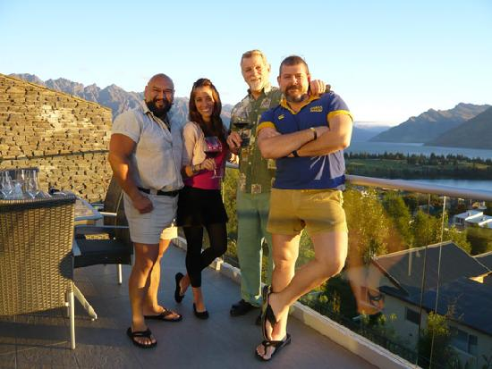 Queenstown House Boutique Bed & Breakfast & Apartments: friends we´ve made