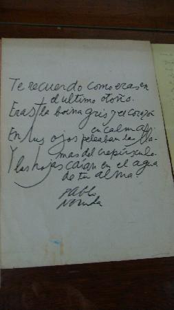 Casa Museo La Chascona: Neruda's hand written poems