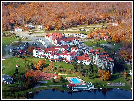 The Balsams: View on the hotel from