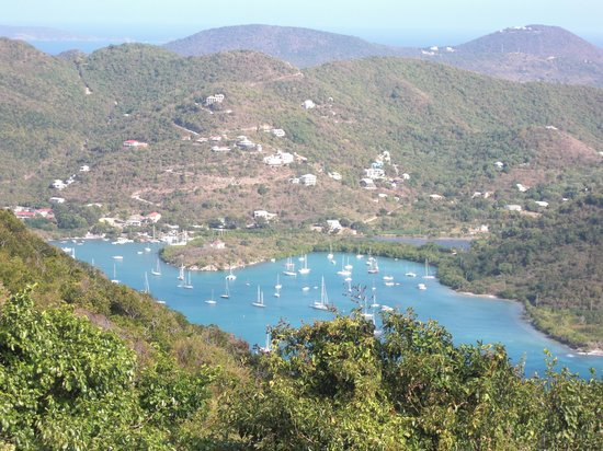 "St. John: view of coral bay from ""the castle"""