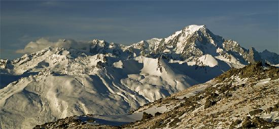Belambra Clubs - L'Aiguille Rouge : MtBlanc, seen from the upper part of Aiguille Rouge run