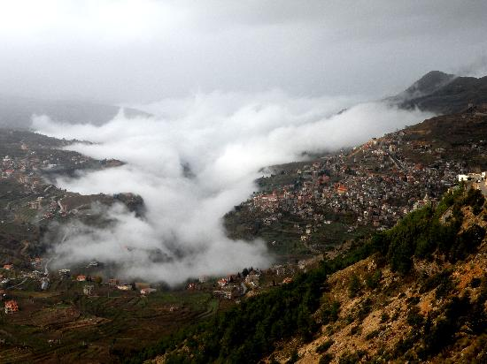 Bcharre & Wadi Kadisha in the fog