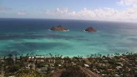 View of Kailua Bay, Lanikai and the Mokulua Islands