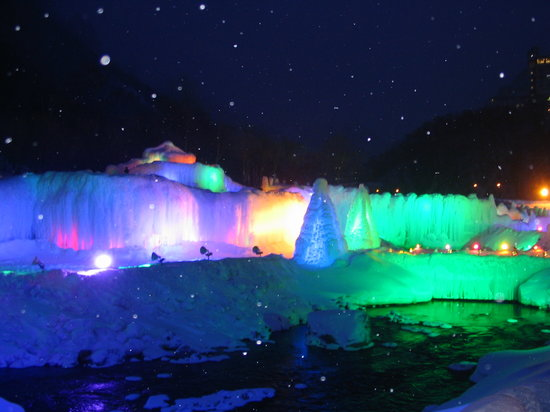 Sounkyo Hot Spring Ice Fall Festival