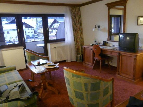 Hotel Haymon : Best Christmas in Austria-Our sitting area,with Balcony