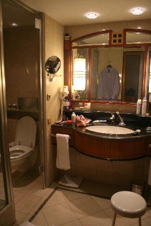Kempinski Hotel Corvinus Budapest: the bathroom
