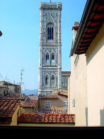 Hotel Villani: View from the breakfast room window-Giotto's campanile