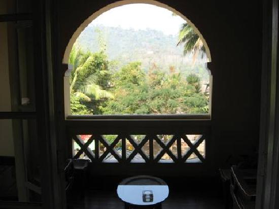 Le Calao Inn: Balcony and view.